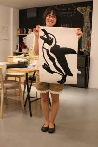ペンギンとスタッフ後藤